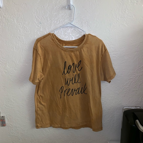"""American Eagle Outfitters Tops - American Eagle """"Love Will Prevail"""" Baggy T-shirt"""